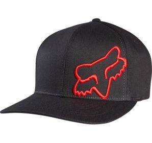 Zobrazit detail - Kšiltovka Fox Racing Signature Flexfit Hat Black-Red