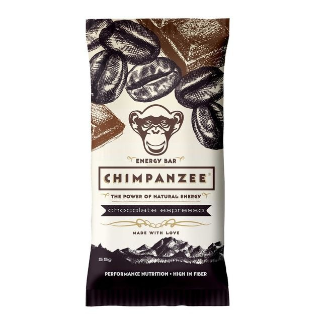 CHIMPANZEE BOX ENERGY BAR Čokoláda-espresso