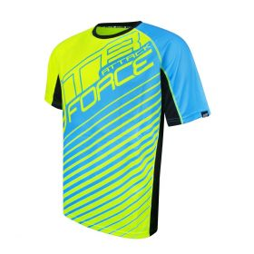 Dres FORCE MTB ATTACK - fluo modrý