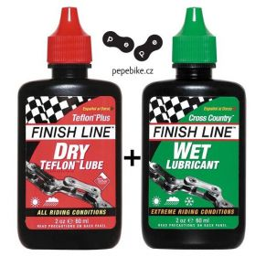 Mazáni Finish Line Teflon Plus + Cross Country 60ml kapátko
