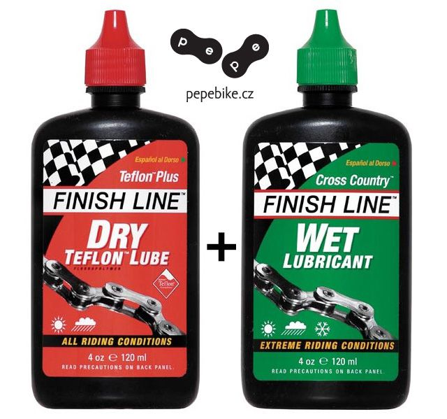 Mazáni Finish Line Teflon Plus + Cross Country 120ml kapátko