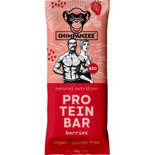Tyčinka CHIMPANZEE BIO PROTEIN BAR - Berries 40g